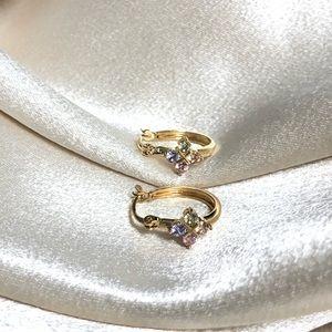 18k Gold Filled CZ Hoop Earrings
